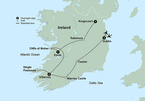 Blarney Ireland Map.Collette Irish Splendour Legrow S Travel