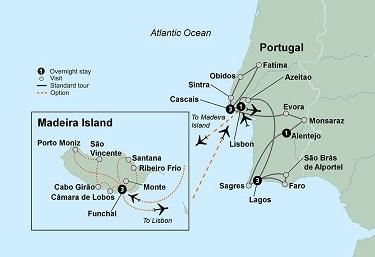 Collette Sunny Portugal LeGrows Travel - Portugal map coast